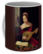 Mary Magdalene Playing The Lute Coffee Mug by Master of the Female Half Lengths