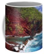Maui Red Sand Beach Coffee Mug by Inge Johnsson