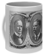 Mckinley And Roosevelt Election Poster Coffee Mug by War Is Hell Store