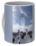 Members Of The U.s. Naval Academy Cheer Coffee Mug by Stocktrek Images