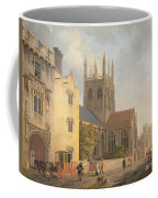 Merton College - Oxford Coffee Mug by Michael Rooker