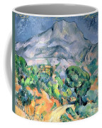 Mont Sainte Victoire Coffee Mug by Paul Cezanne