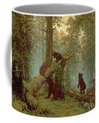 Morning In A Pine Forest Coffee Mug by Ivan Ivanovich Shishkin