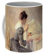 Motherhood Coffee Mug by Louis Emile Adan