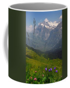 Mount Wetterhorn And The Grindelwald Coffee Mug by Anne Keiser