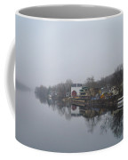 New Hope River View On A Misty Day Coffee Mug by Bill Cannon