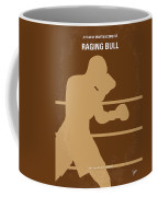 No174 My Raging Bull Minimal Movie Poster Coffee Mug by Chungkong Art
