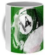 Number Fourteen Billiards Ball Abstract Coffee Mug by David G Paul