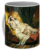 Odalisque With A Lute Coffee Mug by Hippolyte Berteaux