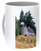 Old Barn In Field Coffee Mug by Athena Mckinzie