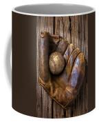 Old Baseball Mitt And Ball Coffee Mug by Garry Gay