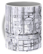Old Blueprints Coffee Mug by Yali Shi