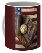 Old Mitt And Baseball Coffee Mug by Garry Gay