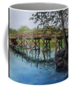 Old North Bridge In Pastel Coffee Mug by Jack Skinner