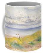 On The Cliffs Coffee Mug by Pierre Auguste Renoir