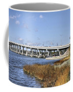 Ormond Beach Bridge Coffee Mug by Deborah Benoit
