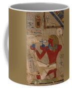Painted Relief Of Thutmosis IIi Coffee Mug by Kenneth Garrett