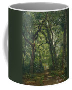 Path In The Forest Coffee Mug by Henri Joseph Constant Dutilleux