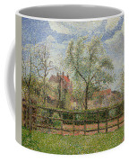 Pear Trees And Flowers At Eragny Coffee Mug by Camille Pissarro