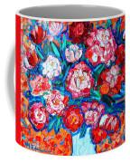 Peonies Bouquet Coffee Mug by Ana Maria Edulescu
