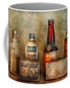 Pharmacist - On A Pharmacists Counter Coffee Mug by Mike Savad