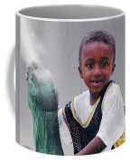 Philly Fountain Kid Coffee Mug by Brian Wallace