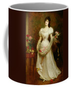 Portrait Of A Woman And Her Greyhound Coffee Mug by English School
