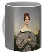 Portrait Of Louise Vernet Coffee Mug by Emile Jean Horace Vernet