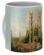 Procession Of The Knights Of The Bath Coffee Mug by Canaletto