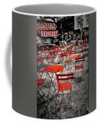 Red In My World - New York City Coffee Mug by Angie Tirado
