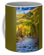 River And Aspens Coffee Mug by Inge Johnsson