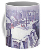 Roofs Under Snow Coffee Mug by Gustave Caillebotte