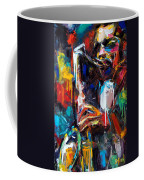 Round Midnight Coffee Mug by Debra Hurd