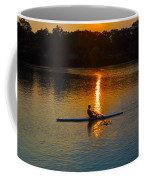 Rowing At Sunset 2 Coffee Mug by Bill Cannon