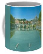 Rowing On The Tiber Rome Coffee Mug by Richard Harpum