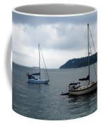 Sailboats In Bar Harbor Coffee Mug by Linda Sannuti
