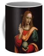 Saviour Of The World Coffee Mug by Giovanni Pedrini Giampietrino