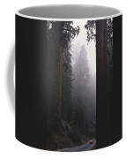Sequoia Trees Dwarf A Car Traveling Coffee Mug by Carsten Peter