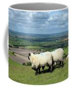 Sheep At Westbury Tor Coffee Mug by Kurt Van Wagner