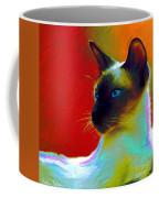 Siamese Cat 10 Painting Coffee Mug by Svetlana Novikova