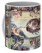 Sistine Chapel Ceiling Creation Of Adam Coffee Mug by Michelangelo