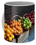 Six Baskets Of Assorted Fresh Fruit Coffee Mug by Todd Gipstein