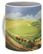 Small Green Valley Coffee Mug by Anna Teasdale