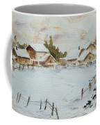 Snowy Village Coffee Mug by Xueling Zou