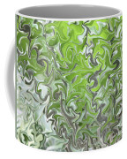 Soft Green And Gray Abstract Coffee Mug by Carol Groenen