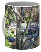 Springtime Bridge Through Japanese Maple Tree Coffee Mug by Carol Groenen