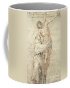 St Francis Rejecting The World And Embracing Christ Coffee Mug by Bartolome Esteban Murillo