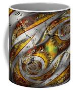 Steampunk - Spiral - Space Time Continuum Coffee Mug by Mike Savad