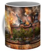 Steampunk - The War Has Begun Coffee Mug by Mike Savad