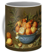 Still Life With Oranges And Lemons In A Wan-li Porcelain Dish  Coffee Mug by Jacob van Hulsdonck